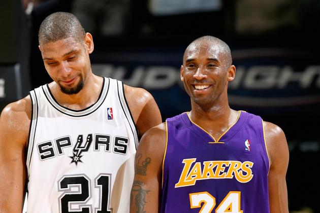 Kobe Bryant 'Jealous' of Tim Duncan and Gregg Popovich as NBA Marvels at Spurs Era