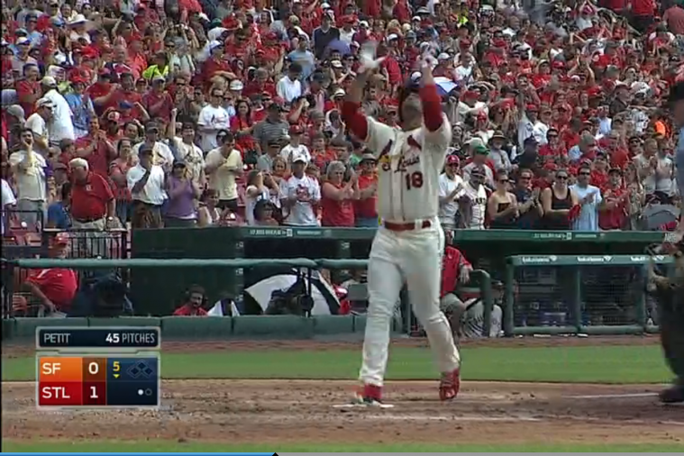 Cardinals' Oscar Taveras Hits Home Run for 1st Career Hit
