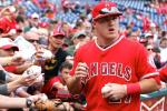 Trout's Return Cut Short Due to Back Discomfort