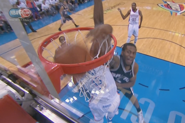 Kawhi Leonard Throws Down Dunk on Serge Ibaka in Game 6