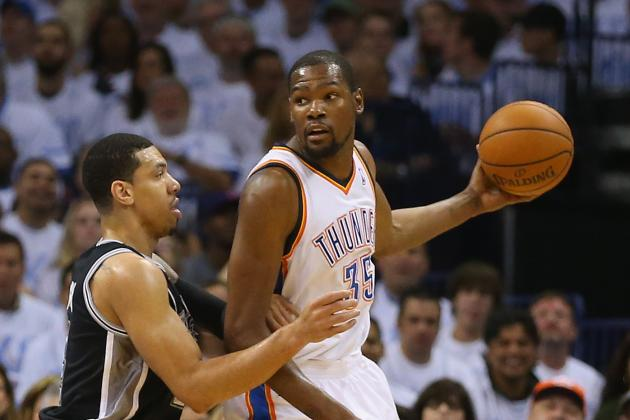 Jeremy Lamb Throws Half-Court Alley-Oop to Kevin Durant in Game 6 vs. Spurs
