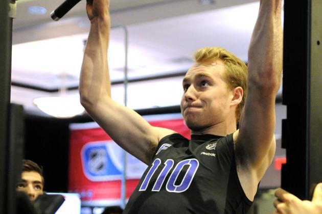 Top Prospect Sam Bennett Posts No Pull-Ups at 2014 NHL Scouting Combine