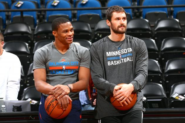 Kevin Love: Russell Westbrook Is 'Top 5 in the World'