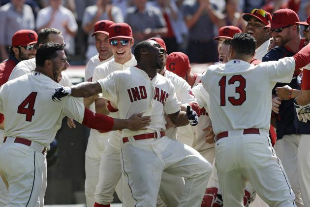 Indians' Michael Bourn Hits 1st Career Walk-off Home Run vs. Rockies
