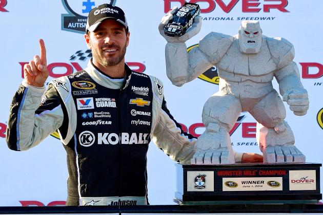 Target on Jimmie Johnson's Back Only Getting Bigger with 2014 Dover Win