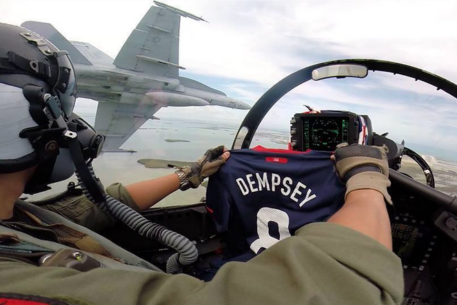 Clint Dempsey Fan Represents USMNT Star While Flying a Fighter Jet