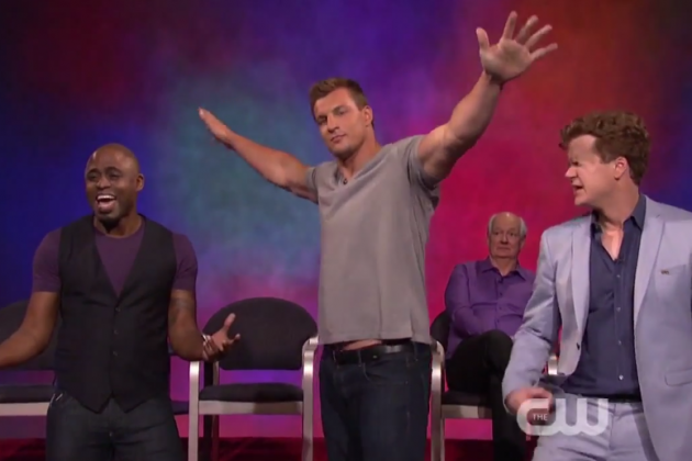 Rob Gronkowski Dances on 'Whose Line Is It Anyway?', Stiff-Arms Wayne Brady
