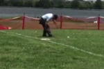 Wiffle Ball Ump Takes Shot to Groin, Calls It Quits