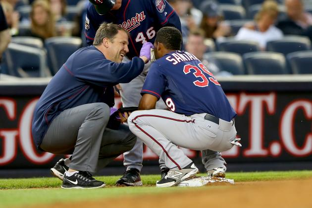 Santana Returns to Twins' Lineup After Stitches