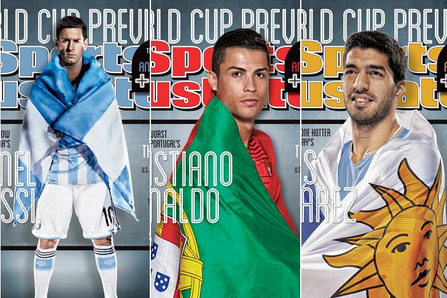 Messi, Ronaldo, Suarez and Dempsey Featured on SI's World Cup Preview
