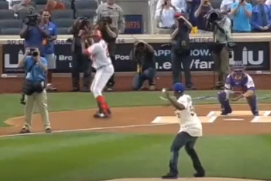 Vladimir Guerrero Can Hit Anything, Even 50 Cent's First Pitch