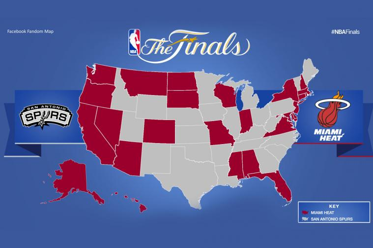 Facebook Data Shows Pretty Even Results in 2014 NBA Finals Fanhood