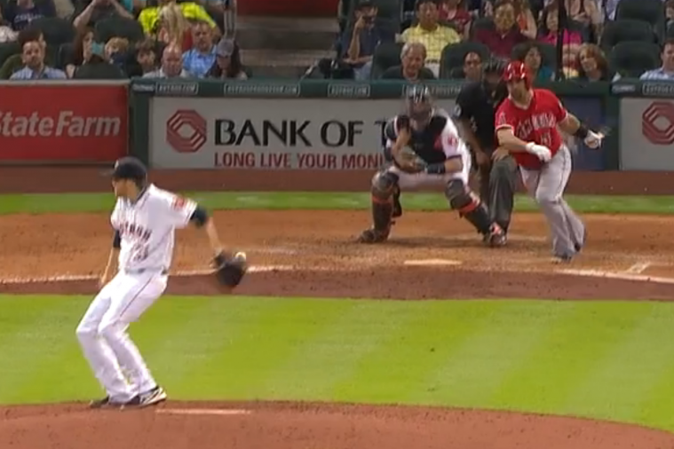 Houston Astros Pitcher Collin McHugh Fields Ground Ball in Slick Fashion