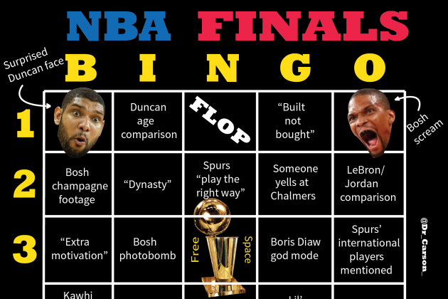 Let's Play NBA Finals Bingo!
