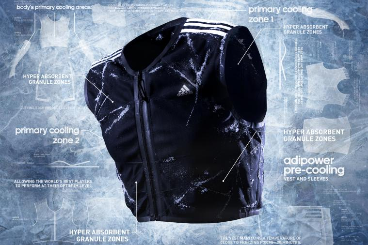 Adidas Unveils AdiPower Pre-Cooling Vest and Sleeves for 2014 FIFA World Cup