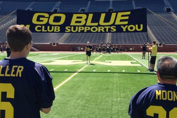 Photos: Michigan Fans Go Through Football Experience