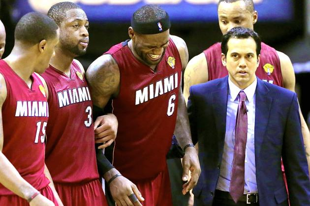 LeBron James Cramps Up and Miami Heat Flame Out in Game 1