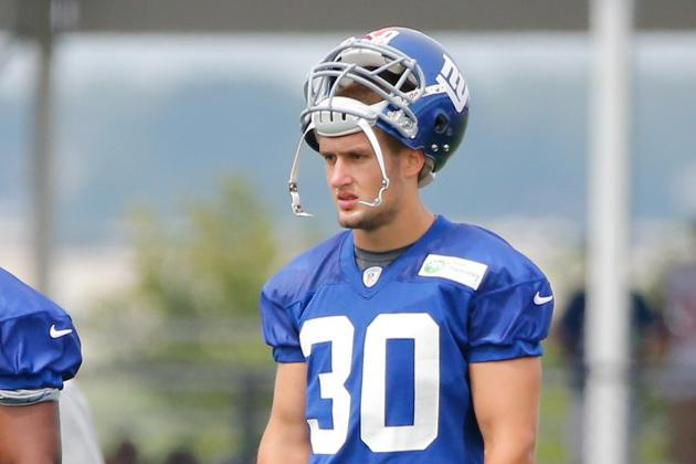 Giants: Cooper Taylor Adds Muscle, Gets Some First-Team Snaps at Safety