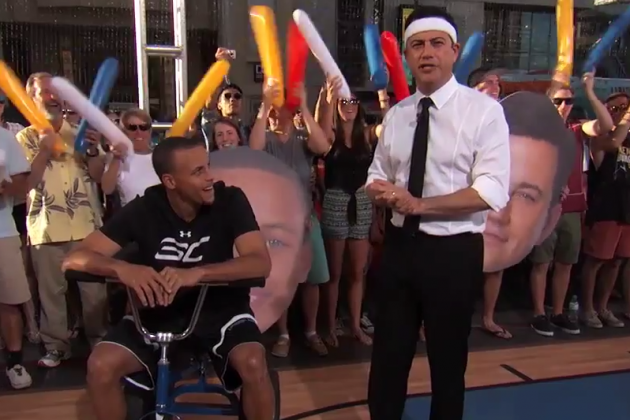 Jimmy Kimmel Plays Hide-and-Seek W/Mutombo, Goes 1-on-1 Against Stephen Curry