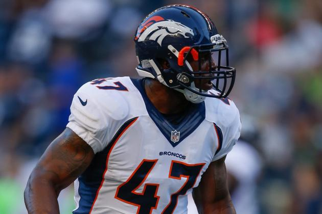 Denver Broncos LB Lerentee McCray Running with Starters