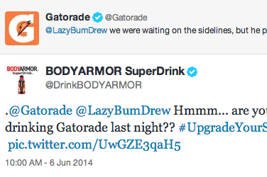 Sports Drinks Battle It Out on Twitter Following LeBron's Game 1 Cramps