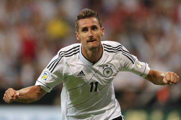 Miroslav Klose's 69th Goal Makes Him Germany's All-Time Leading Goalscorer