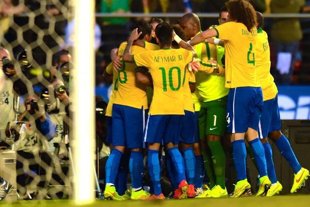 Luiz Felipe Scolari Left with Pleasant Problems After World Cup Warm-Ups