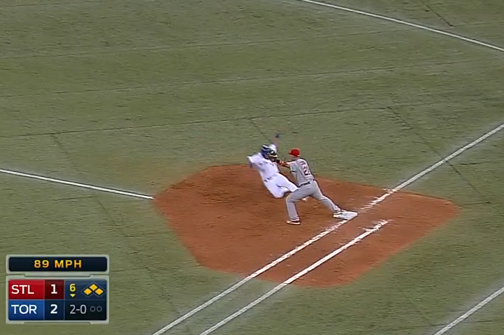 St. Louis Cardinals Turn Triple Play with Bases Loaded vs. Toronto
