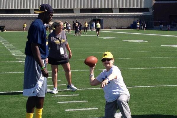 Photos: Michigan Holds Football Clinic for Women