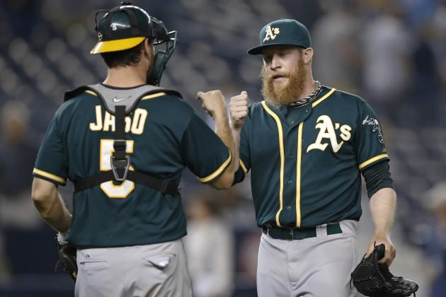 A's Sean Doolittle 1st Pitcher Since 1900 to Reach 40 Ks with Just 1 Walk