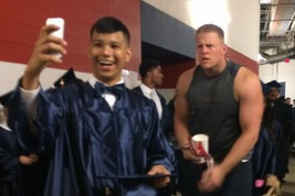 J.J. Watt Surprise Graduation Photobomb