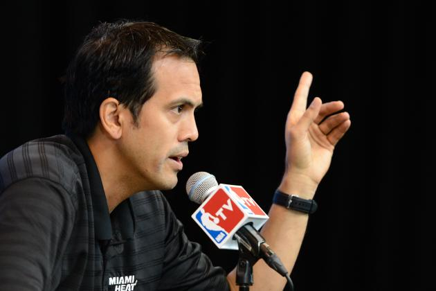 Erik Spoelstra Expects It to Be Freezing in AT&T Center for NBA Finals Game 2