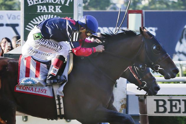 Tonalist Takes Advantage of California Chrome's Fatigue to Win Belmont Stakes
