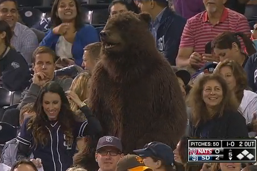 Padres Fan's Bear Costume Is Scary Good