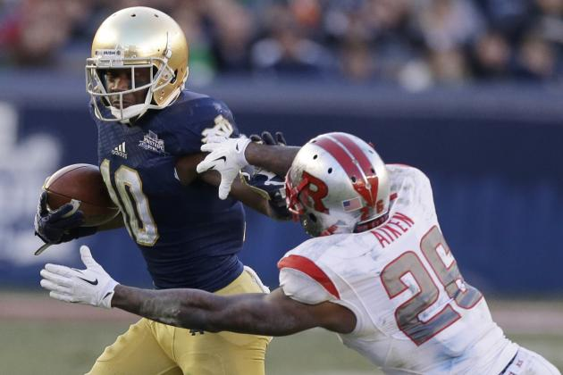 Notebook: Notre Dame's DaVaris Daniels Makes Delayed Impression