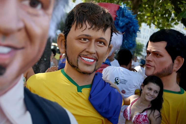 Creepy Large Puppets of Neymar, Cristiano Ronaldo and More Flood Rio Parade