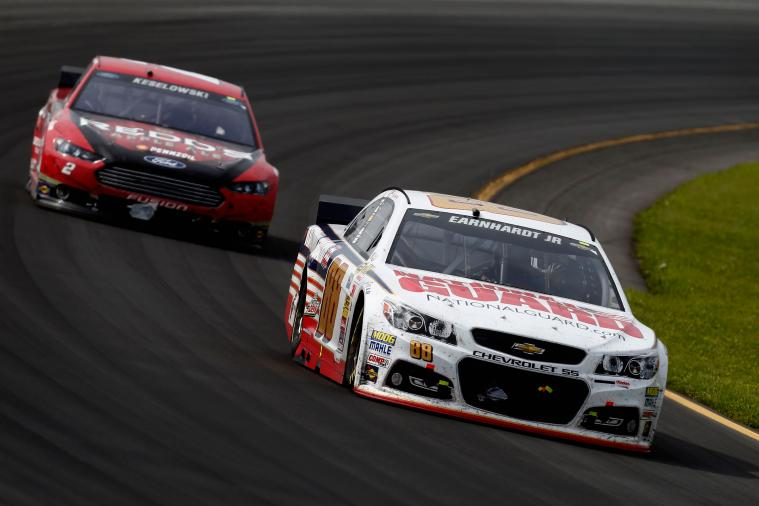 Debris on Brad Keselowski's Car Helped Dale Earnhardt Jr. Win Pocono 2014