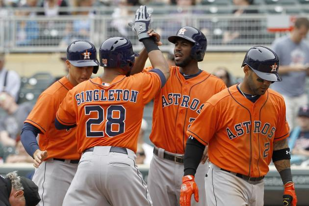 Houston Astros Hit 2 Grand Slams in a Game for Only 2nd Time in Club History