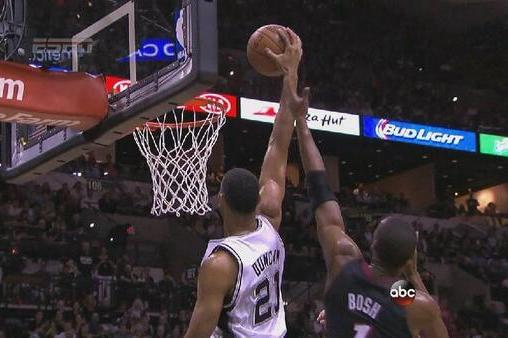 Tim Duncan Gets San Antonio Crowd Pumped Up with Big Putback Dunk