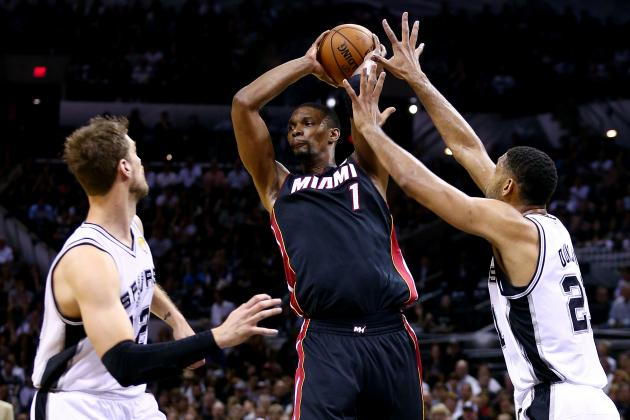 Chris Bosh Posterizes Danny Green with Huge 2-Handed Dunk in Game 2 of Finals