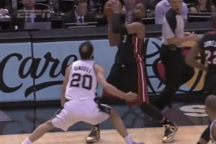 Dwyane Wade Fined for Flopping After Pretending He Got Hit in Face by Ginobili