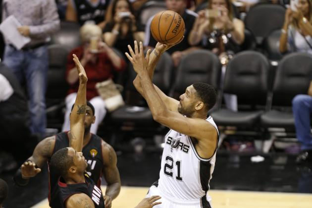 Spurs' Tim Duncan Passes Shaquille O'Neal for 5th in Career Playoff Free Throws