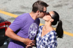 Rodgers Shares Awkward Kiss with Olivia Munn
