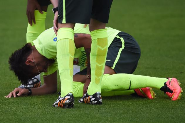 Neymar Fine After World Cup Injury Scare Days Before Brazil Opener with Croatia