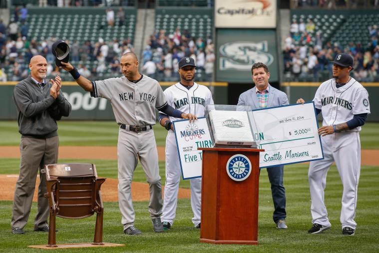 Robinson Cano Presents Derek Jeter with $34,000 Watch as Part of Farewell Tour