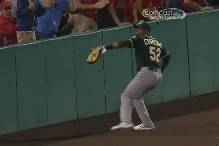 Yoenis Cespedes Makes a Case for 'Throw of the Year' by Gunning Runner at Home