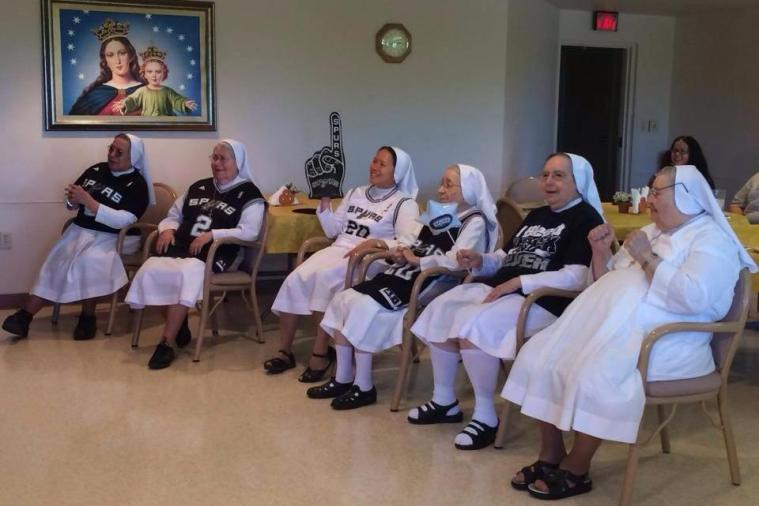Nuns Support Their Team by Wearing San Antonio Spurs Jerseys over Habits