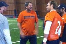 Browns Legend Bernie Kosar Works with Chicago Bears' Quarterbacks