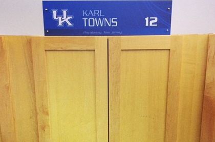 Karl Towns Has His Number and Locker at Kentucky