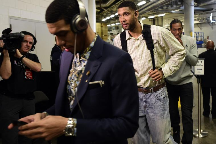 Tim Duncan Wore Pretty Awful Jeans Before Game 4 of 2014 NBA Finals